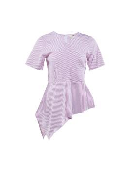 Short Peplum Top Pink