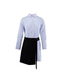 Apron Shirtdress Navy