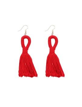 Red Loop Tassel