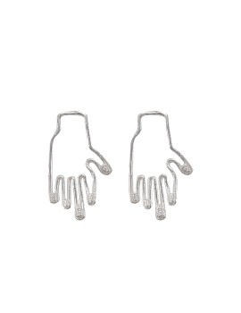Hand in Hand Stud Silver