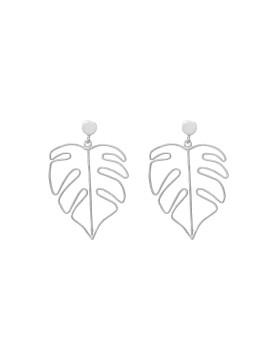 Monstera Earring Silver