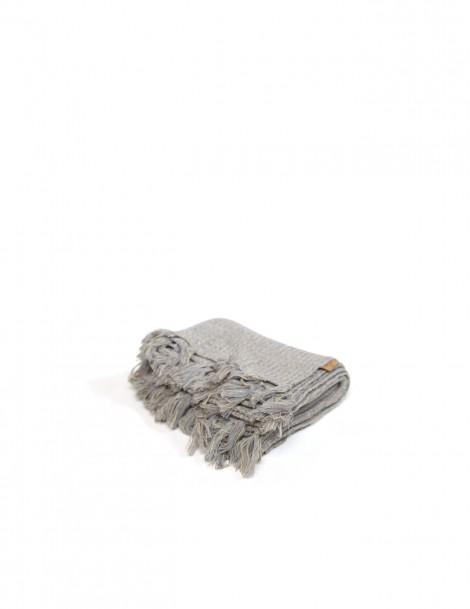 Knitted Blanket Misty Grey
