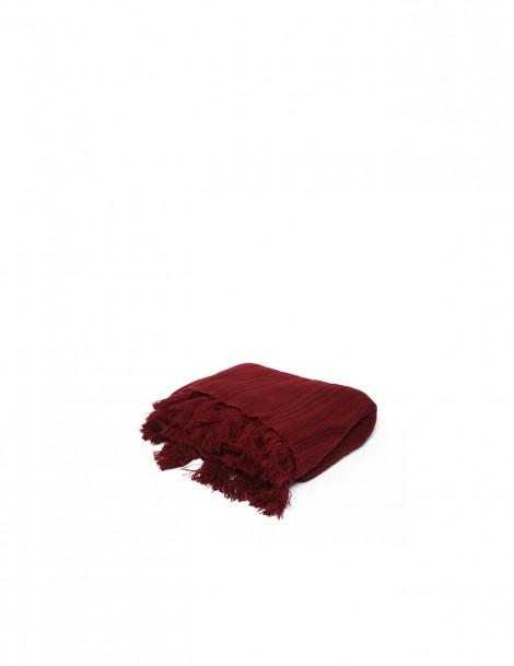Knitted Blanket Pattern Maroon
