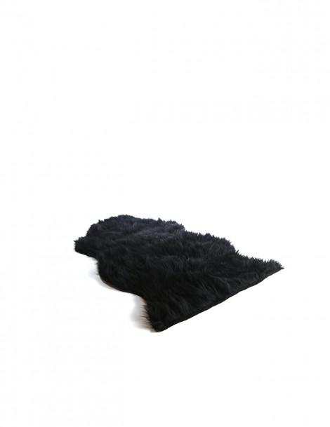 Faux Fur Rugs Fluffy Black