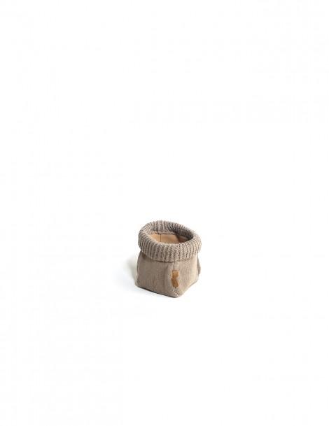 Hand Knitted Basket Khaki (M)