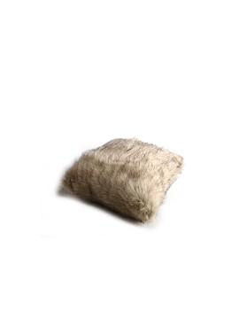 Faux Fur Pillow Case Creme (L)