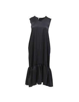 V-neck Dress Black