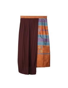 Keera Pleated Skirt In Brick