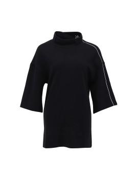 Stripe Texture Oversized Sweatshirt in Grey
