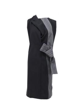 Drapped Sleeveless Dress