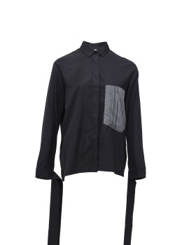 Basic Shirt with Extended Cuff