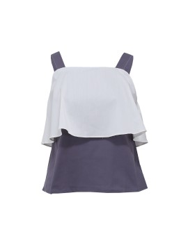 Sleeveless Top with Layers
