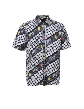 BW Hem Pendek Batik Shirt Black and White