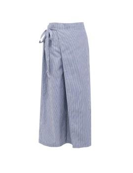 Assymetric Blue Stripes Pants