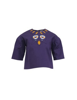 Quita Embroided Top Purple