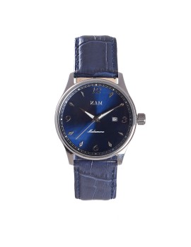 Mahameru Quartz Steel Case MH-007 Blue Sunburst Dial