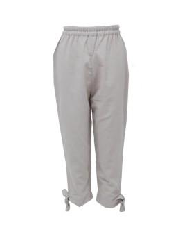 Ribbon Bottom Pants Creme