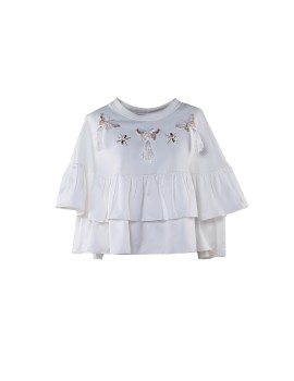 Butterfly Frill Top White