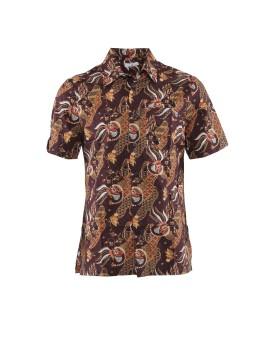 AD Mens Batik Short Sleeve Ms 1119 - Brown