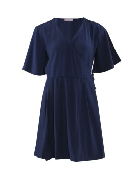 Olga Dress in Navy