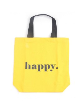 Happy Tote Bag Yellow