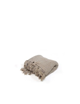 Knitted Blanket Khaki Brown