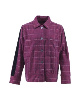 Checked Wool Jacket Red