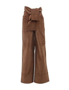 Under Pressure Wide Trousers Light Brown