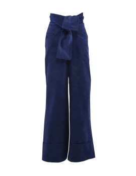 Under Pressure Wide Trousers Navy