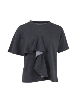 Haru Ruffle Top Dark Grey