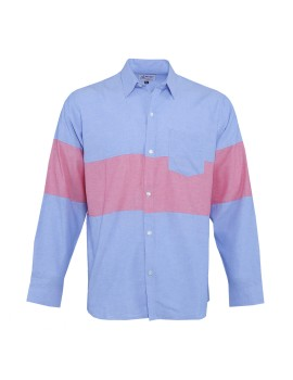 Oxford Panel Shirt Blue