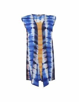 Shibori Vest Blue