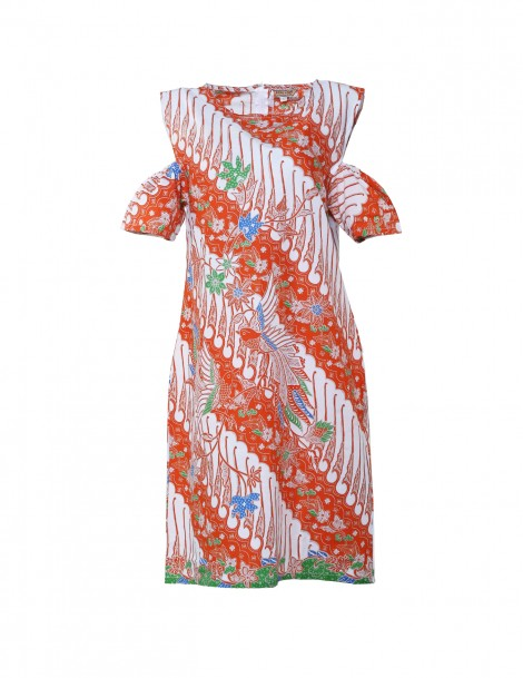 Dena Sleeve Dress Orange