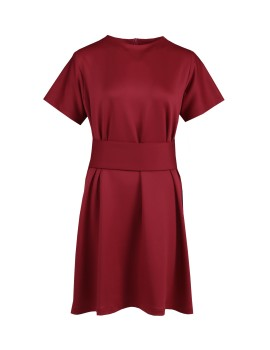 Obi Dress Maroon