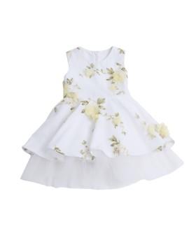 Circle Dress Tulle White (3-4 y.o)