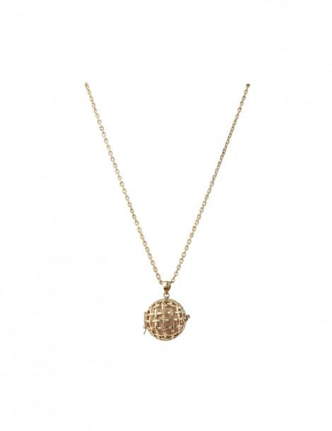 Manika Aromatherapy necklace Brass