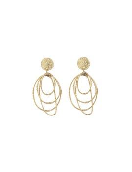 Stud earring brass