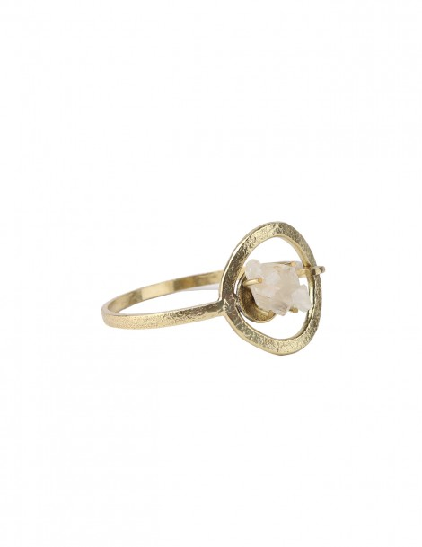Bracelet brass with crystal stone