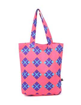 Pink with Purple Tote Bag