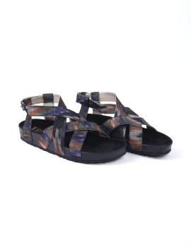 Maipa Sandals Abstrac Black