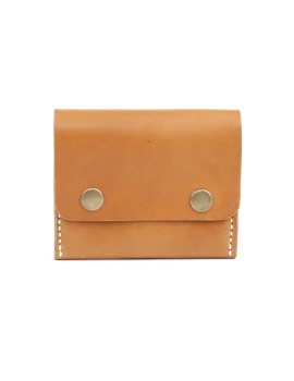 Double Snap Clip Wallet Brown