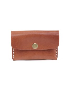Snap Clip Compact Wallet Brown