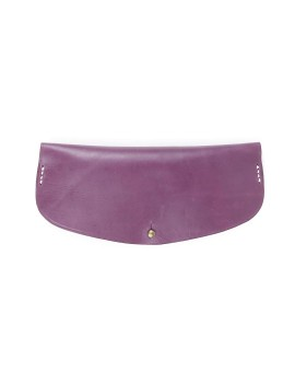 Oval Glasses Case Purple