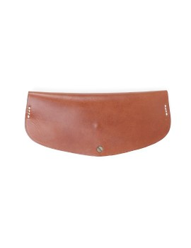 Oval Glasses Case Brown