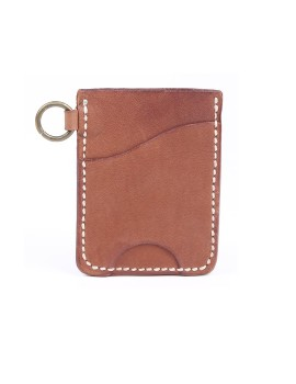 Vertical Card Wallet Brown