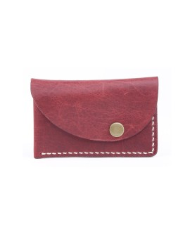 Slanted Wallet Red