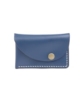 Slanted Wallet Dark Blue