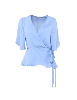 Blue Bell Wrap Top