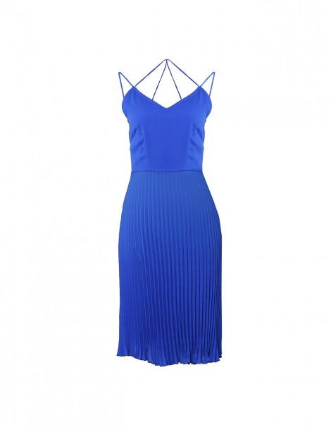Sweetheart Major Pleat Dress Blue