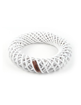 Ring Wreath White
